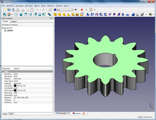 Software per creare ingranaggi a denti dritti me bac for Software per disegno 3d
